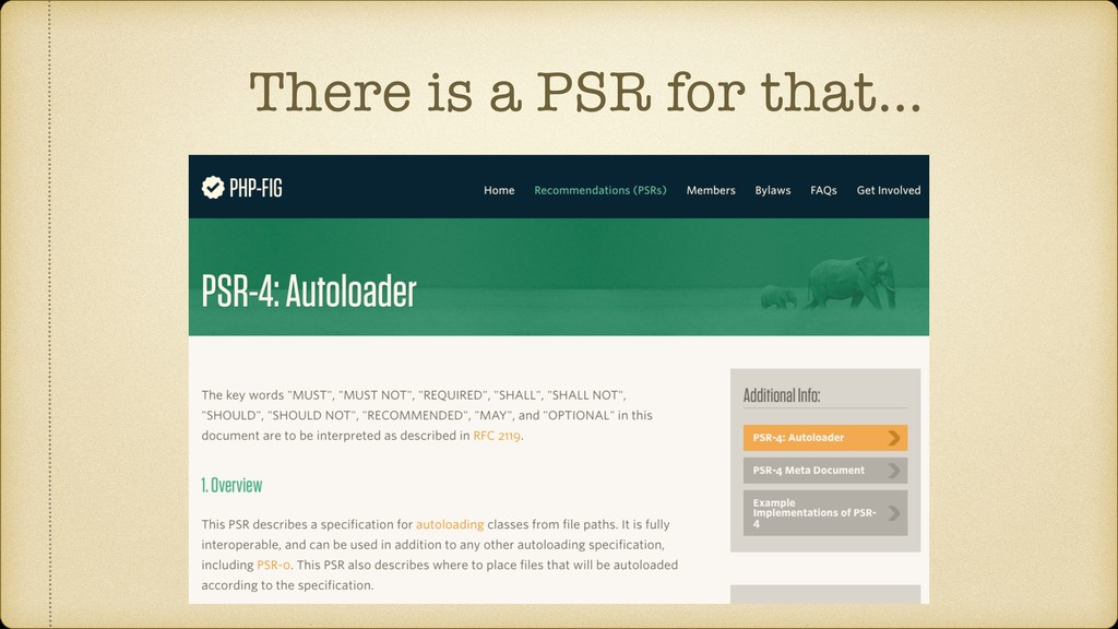 There is a PSR for that…