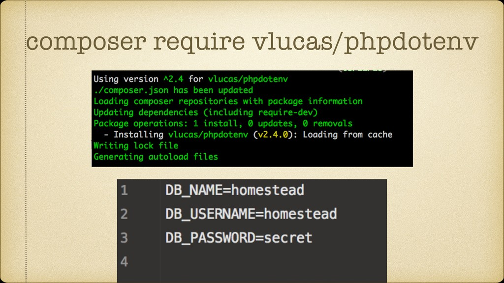 composer require vlucas/phpdotenv
