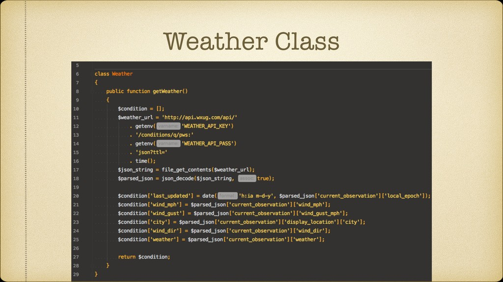 Weather Class
