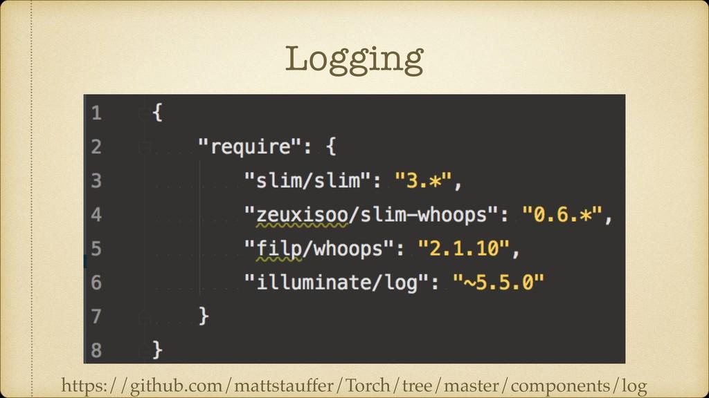 Logging https://github.com/mattstauffer/Torch/t...