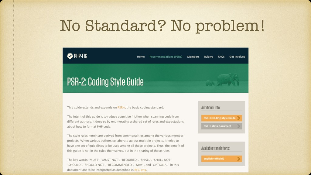 No Standard? No problem!