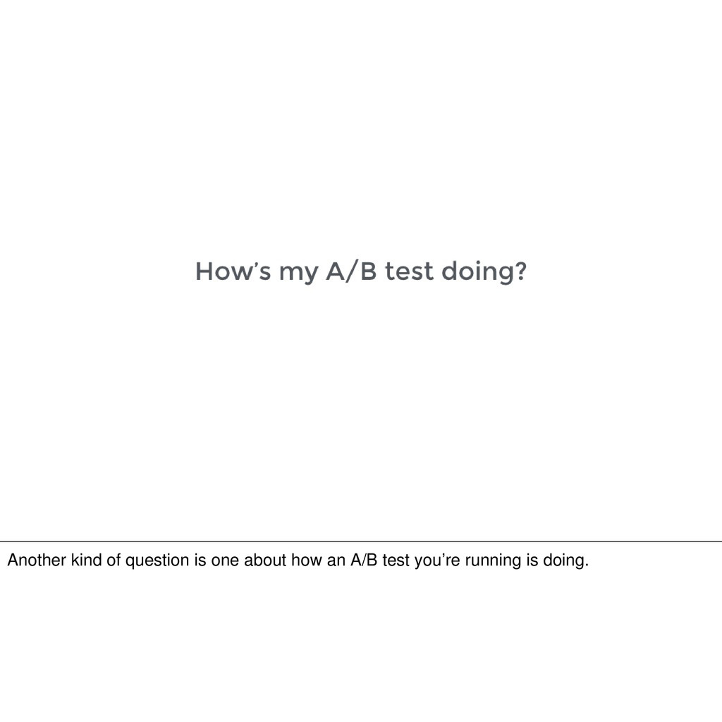 Another kind of question is one about how an A/...
