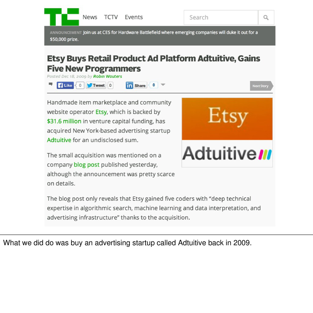 What we did do was buy an advertising startup c...