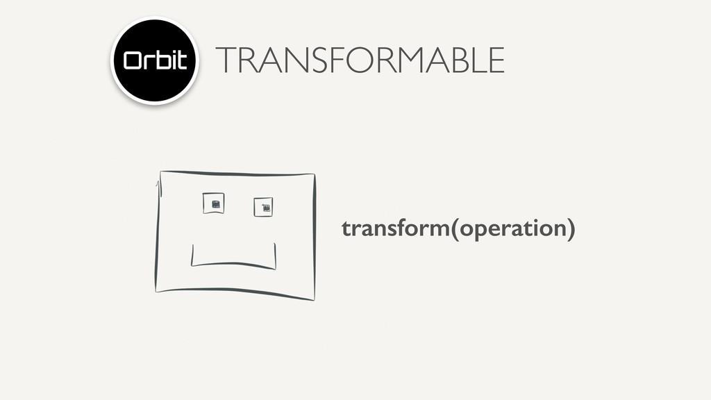 TRANSFORMABLE transform(operation)