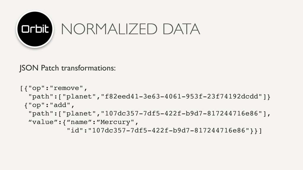 """NORMALIZED DATA JSON Patch transformations: [{""""..."""