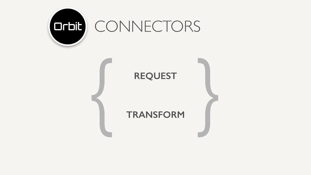 CONNECTORS { } REQUEST TRANSFORM
