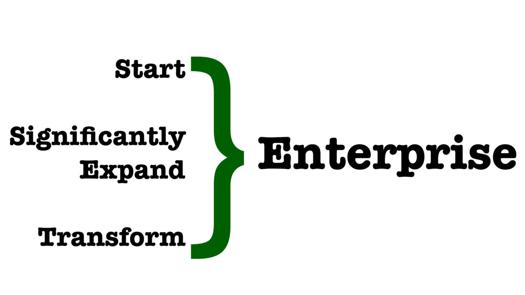 Start Significantly Expand Transform Enterprise...