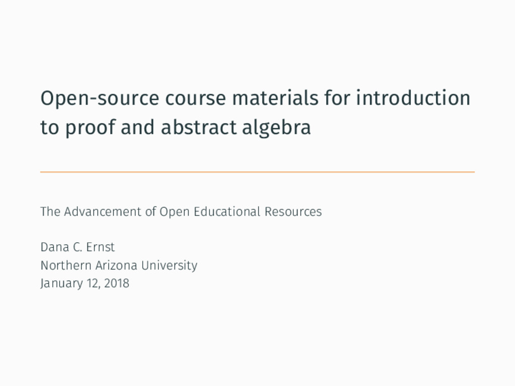 Open-source course materials for introduction t...
