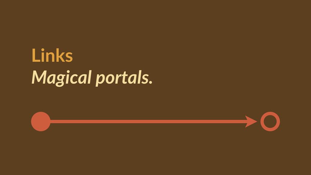 Links  Magical portals.