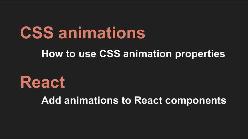 How to use CSS animation properties CSS animati...
