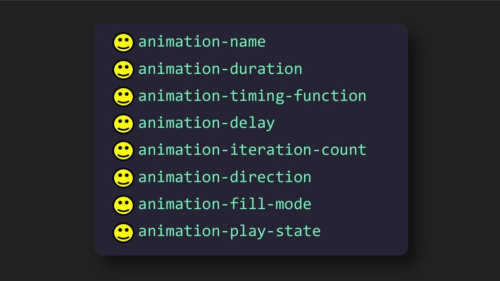 animation-name animation-duration animation-tim...