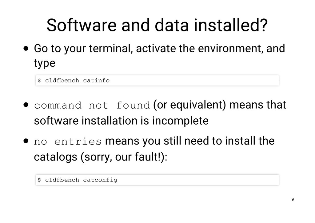 Software and data installed? Software and data ...
