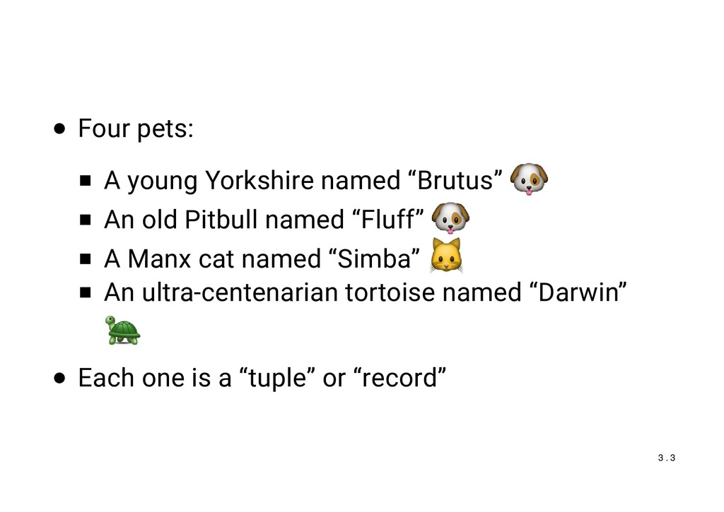 "Four pets: A young Yorkshire named ""Brutus"" An ..."