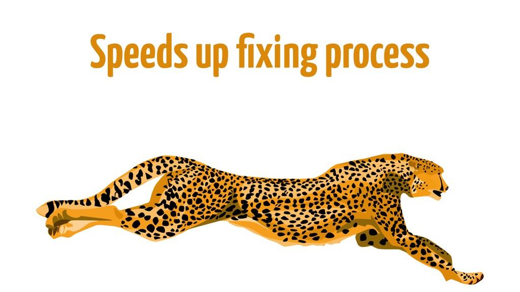 Speeds up fixing process