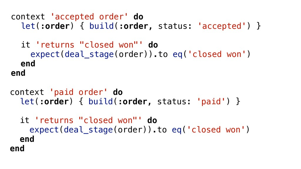 context 'accepted order' do let(:order) { build...