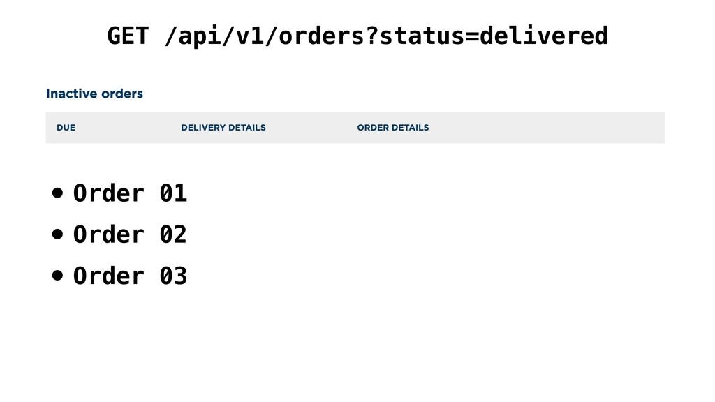 GET /api/v1/orders?status=delivered • Order 01 ...