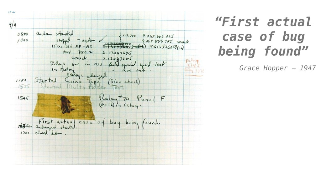 """""""First actual case of bug being found"""" Grace Ho..."""