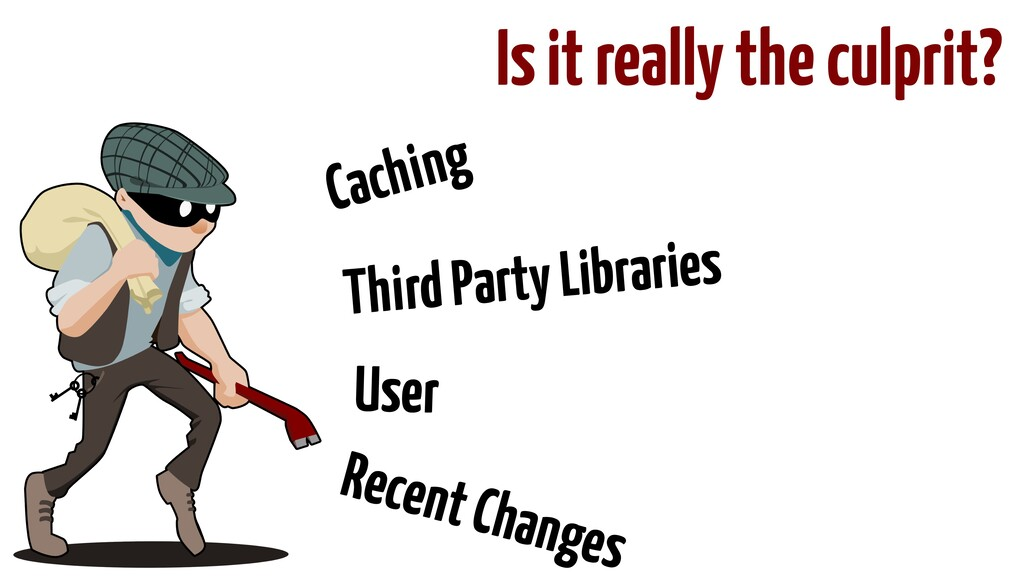 Is it really the culprit? Caching Third Party L...