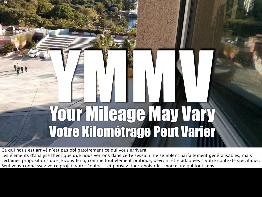 YMMV Your Mileage May Vary Votre Kilométrage Pe...