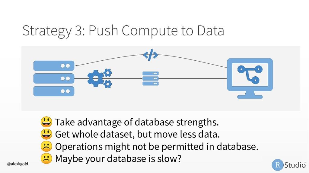 Strategy 3: Push Compute to Data  Take advantag...