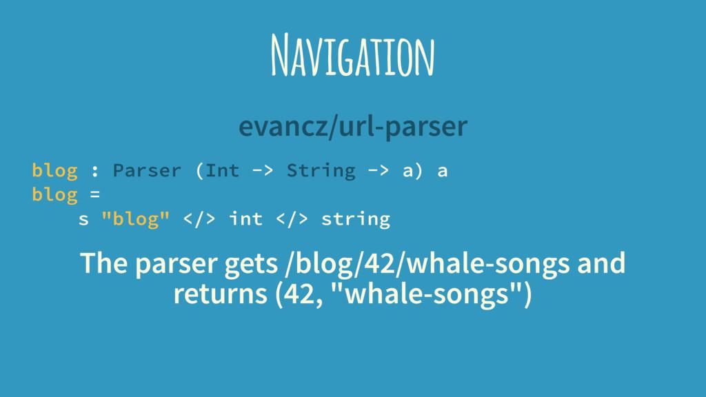 Navigation evancz/url-parser blog : Parser (Int...