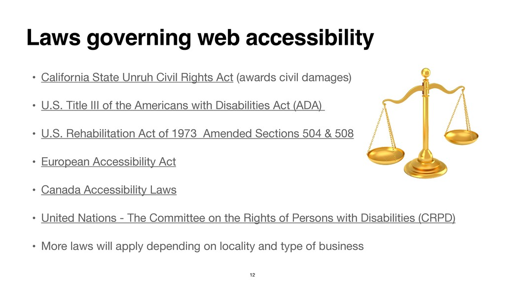 • California State Unruh Civil Rights Act (awar...
