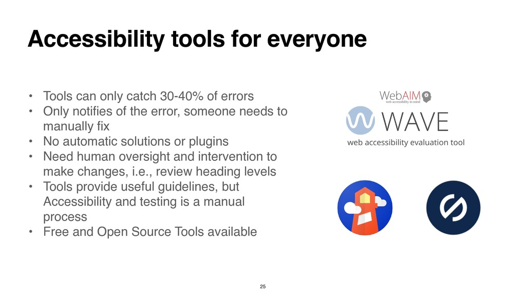 Accessibility tools for everyone • Tools can on...