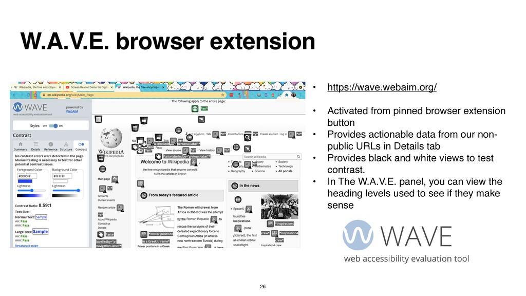 W.A.V.E. browser extension • https://wave.webai...