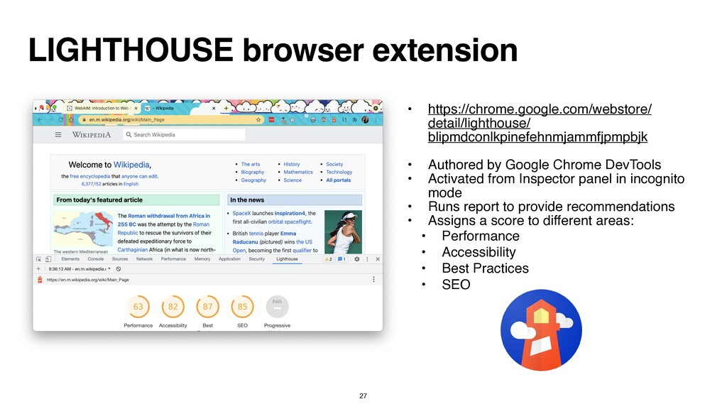 LIGHTHOUSE browser extension • https://chrome.g...