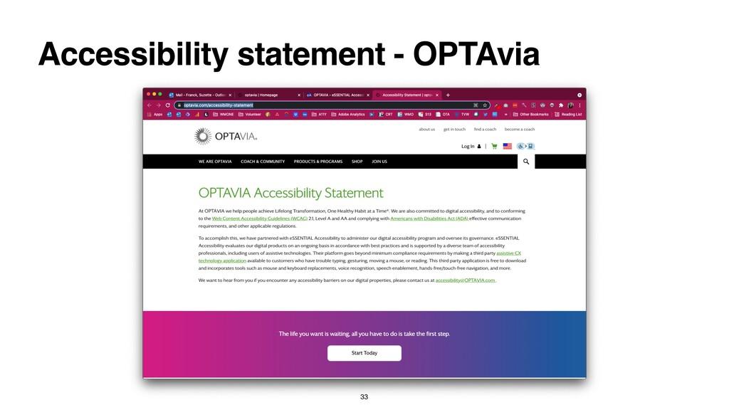 Accessibility statement - OPTAvia 33