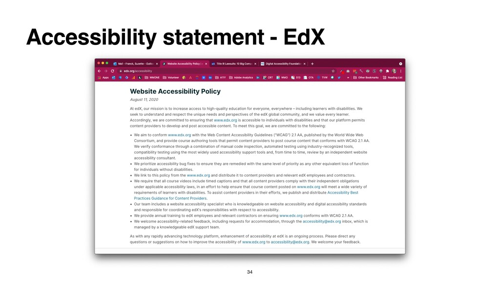 Accessibility statement - EdX 34
