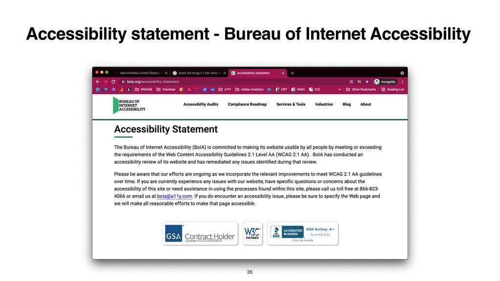 Accessibility statement - Bureau of Internet Ac...