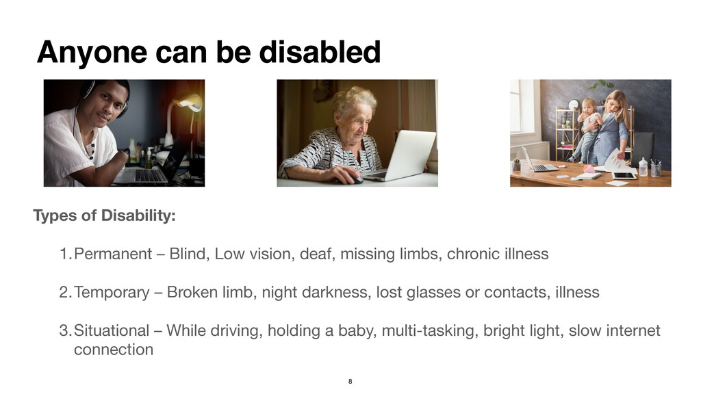 Types of Disability:  1.Permanent – Blind, Low...