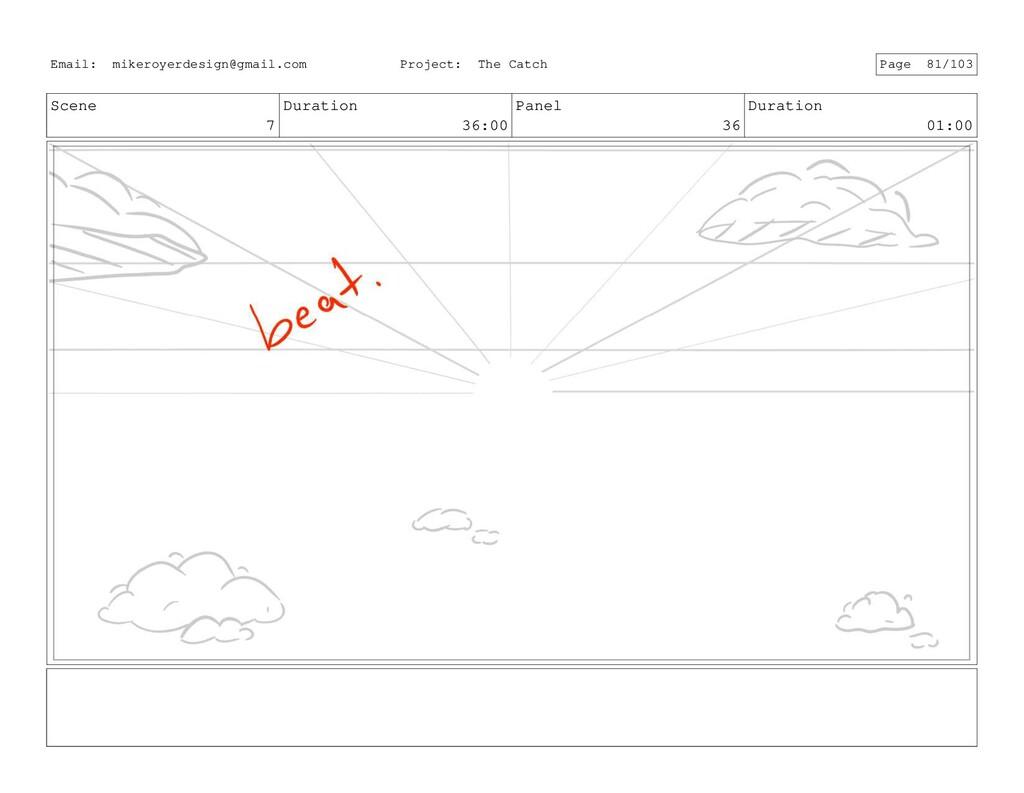 Scene 7 Duration 36:00 Panel 36 Duration 01:00 ...