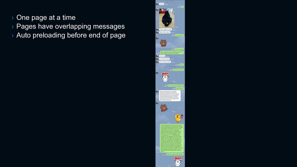 › One page at a time › Pages have overlapping m...