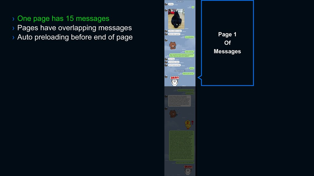 › One page has 15 messages › Pages have overlap...