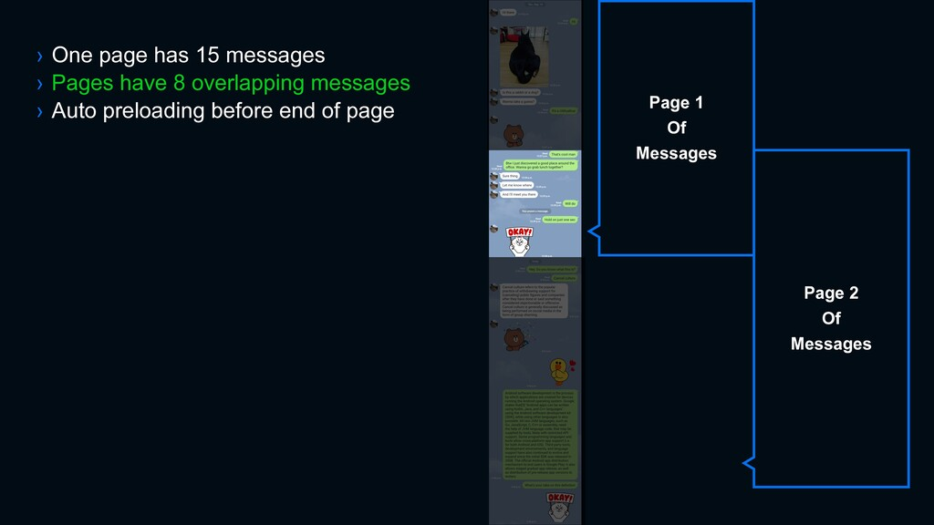 › One page has 15 messages › Pages have 8 overl...