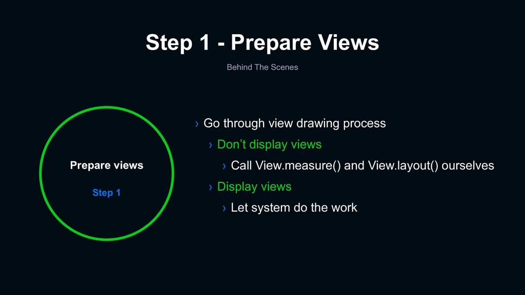 Step 1 - Prepare Views Step 1 Prepare views Ste...