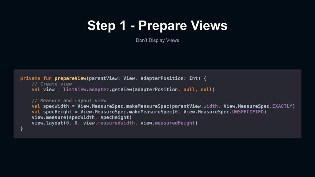 Step 1 - Prepare Views Don't Display Views priv...