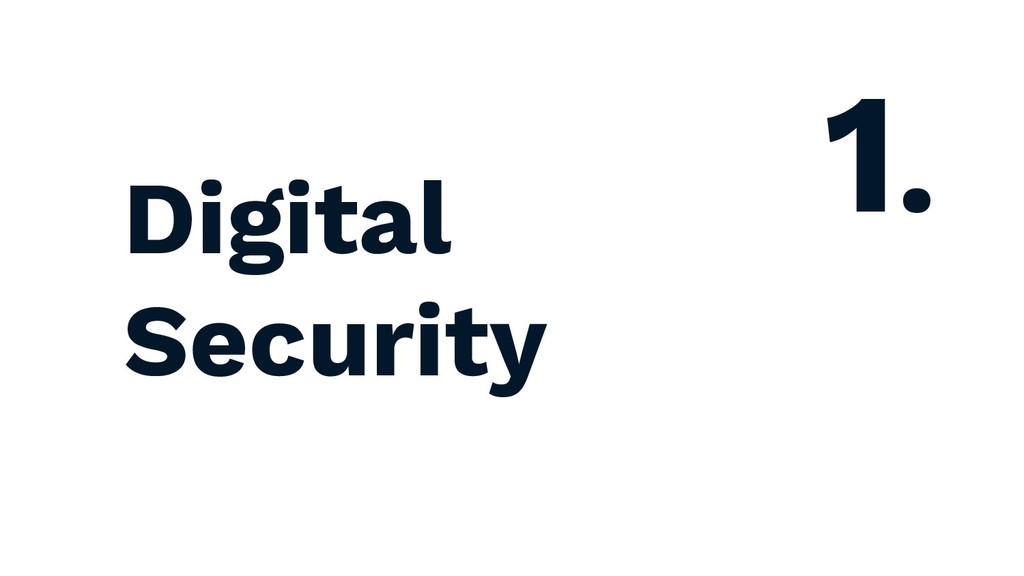 Digital Security 1.