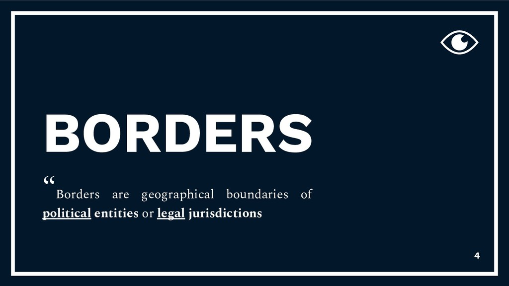 "BORDERS ""Borders are geographical boundaries of..."