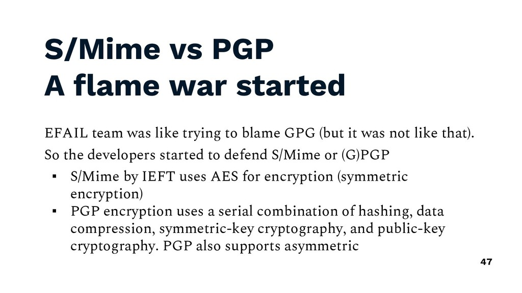 S/Mime vs PGP A flame war started EFAIL team wa...