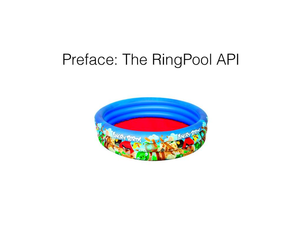 Preface: The RingPool API