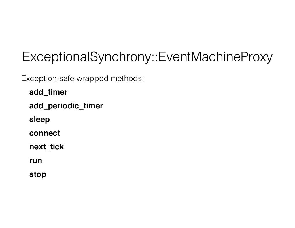 ExceptionalSynchrony::EventMachineProxy Excepti...