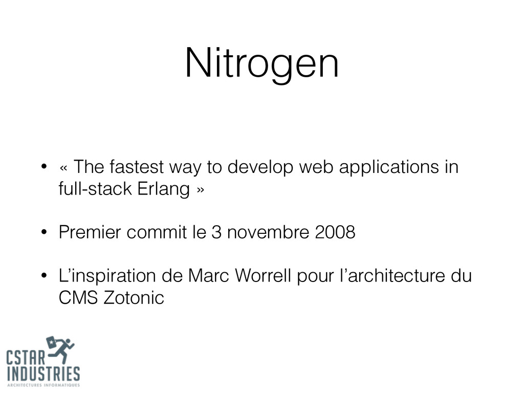 Nitrogen • « The fastest way to develop web app...