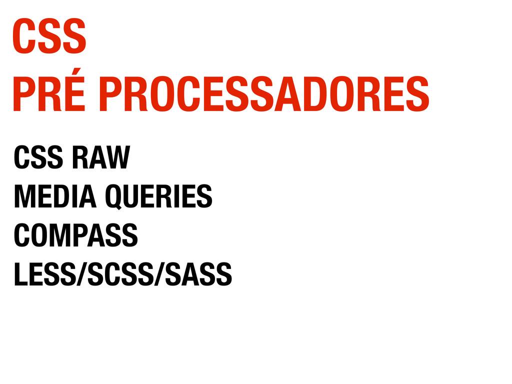 CSS RAW MEDIA QUERIES COMPASS LESS/SCSS/SASS CS...