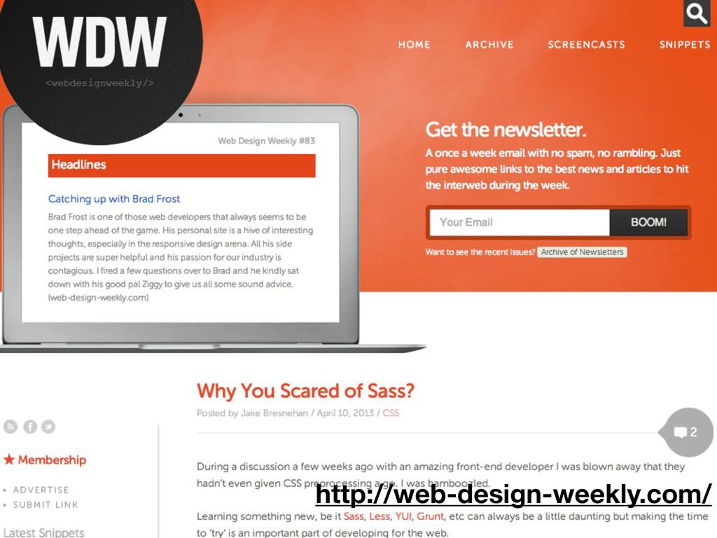 http://web-design-weekly.com/
