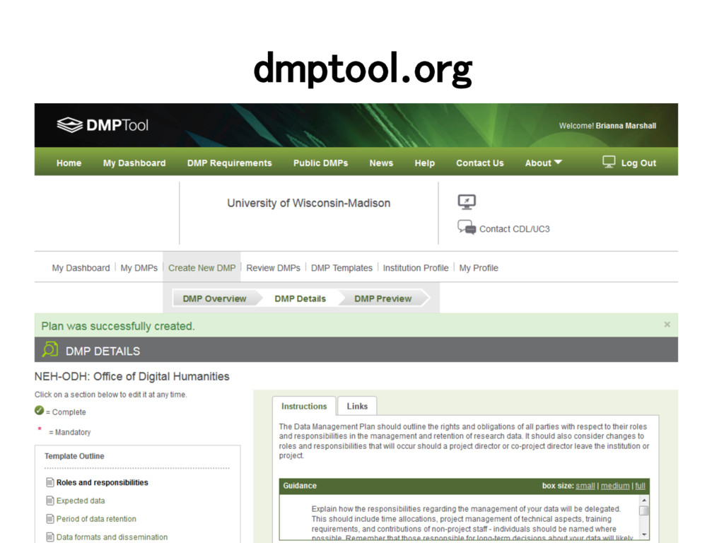 dmptool.org!