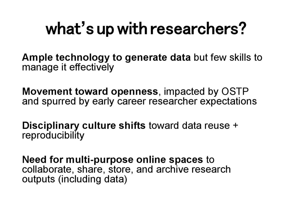 what's up with researchers?! Ample technology t...