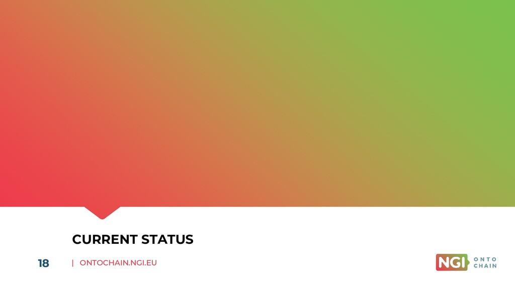 | ONTOCHAIN.NGI.EU 18 CURRENT STATUS 18
